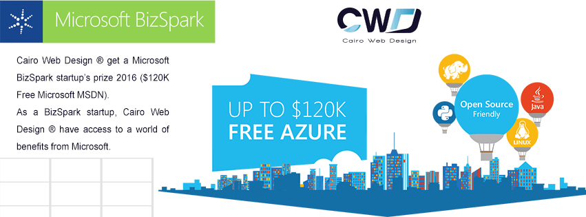 Cairo Web Design ® get a Microsoft BizSpark Cairo Web Design